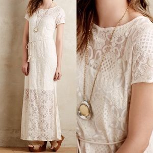 Anthropologie Lace Maxi Dress by Lilka Sz S EUC
